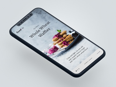 Food-ie design mobile app menu ux ui recipes blog food