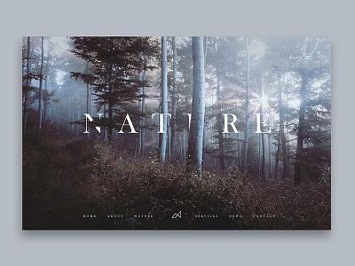 Nature design web explore hero nature