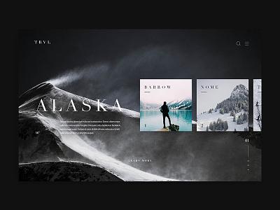 TRVL design alaska web design ux ui travel