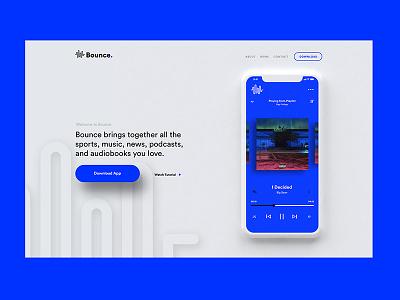 Bounce mobile web design ux ui app music