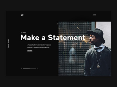 Fashion Designer designer fashion black web design ux ui minimal