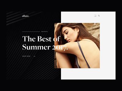 Allure Fashion allure fashion white black web design design minimal ux ui website