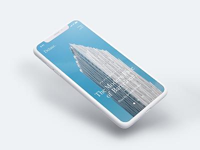Deluxe - Blog mobile minimal iphone x modern simple web design design ux ui blog