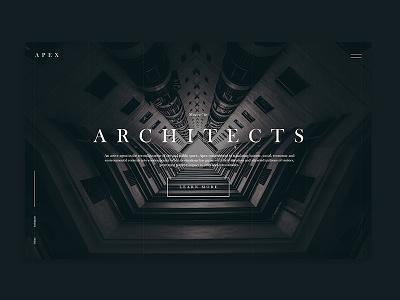Apex Arquitectos / México clean minimal web design website ux ui arquitectos apex