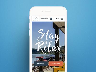 Lakehouse mobile ui ux design web design web hotel