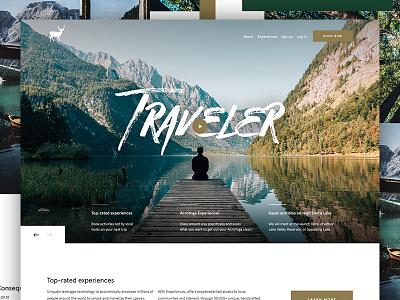 Traveler hero traveler ux travel minimal ui website web design