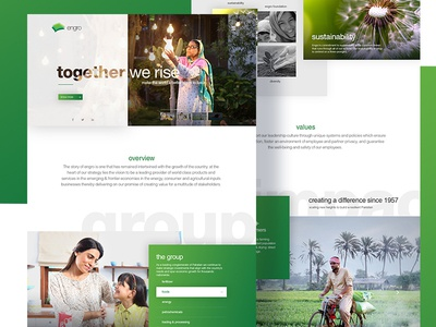 Engro Corp. web redesign
