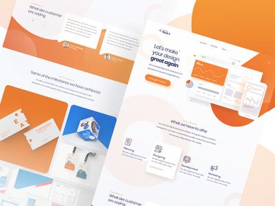 Design Rock it Landing Page