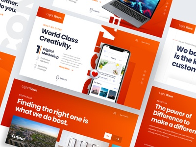 Creative Agency Landing Page Design Idea..!