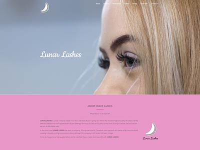 lunar-lashes.com design web development web design