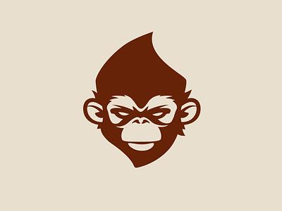 Ape aro illustration animal gorilla vector icon logo monkey ape bucket
