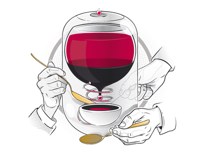 Distill design aroone christianschupp illustration vector spoon hands aro berlin
