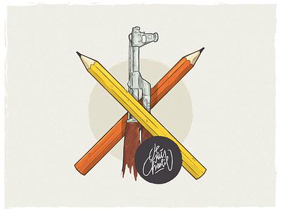 Je suis charlie paris berlin vector illustration christianschupp charliehebdo jesuischarlie aro