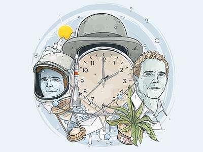 Osterrätsel °1 christianschupp illustration vector aro berlin wams twins head clock time space rocket