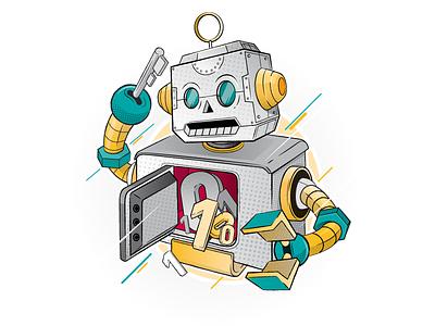 Next audience Robo christianschupp roboter sinnerschrader illustration aro aroone berlin design vector next audience