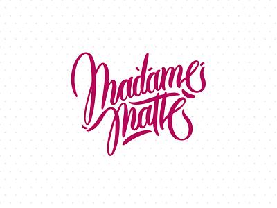 Madame matté branding christian schupp berlin aroone aro barber vector lettering type typo handwritten logo