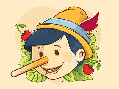 pinocchio boy berlin character cards game nimble design christian schupp aro illustation vector pinocchio