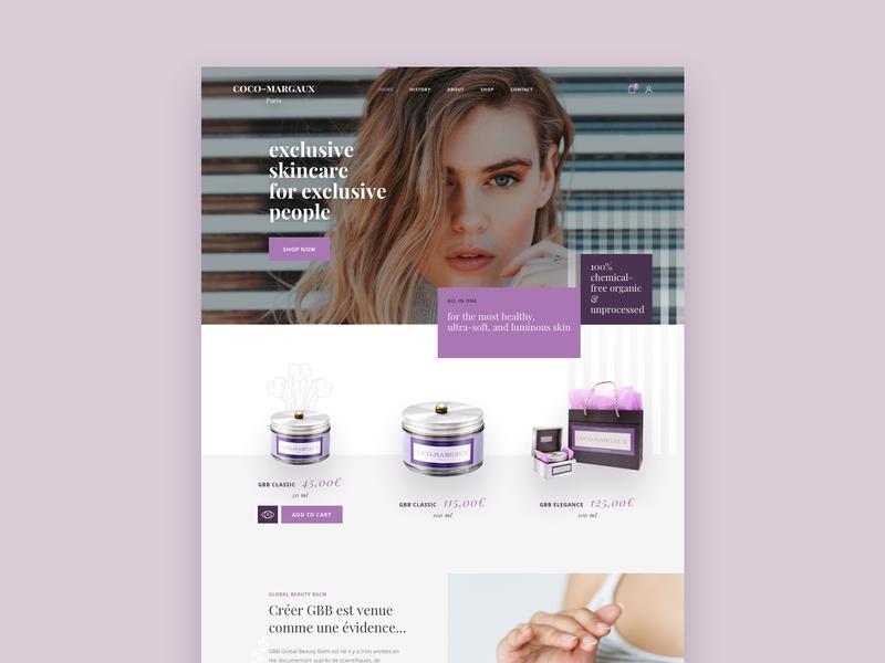 UXUI Website interface conception web designer art direction uxdesign homepage women beauty ecommerce uidesign webdesign website branding ui design