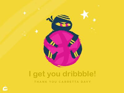Hello! I get u Dribbble hello dribbble thanks invite ninja hello