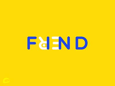 Find Friend logotype branding findfrienf app friend logo logotype