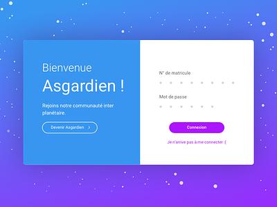 Welcome Asgardians! website webdesign wip login welcome hello connection asgardian signin