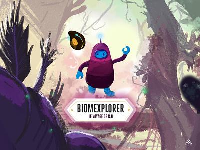 Little R.O The Biomexplorer design character illustration robot game art character art