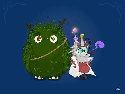 Mystic Guardians children mystic guardians design app game illustration concept character