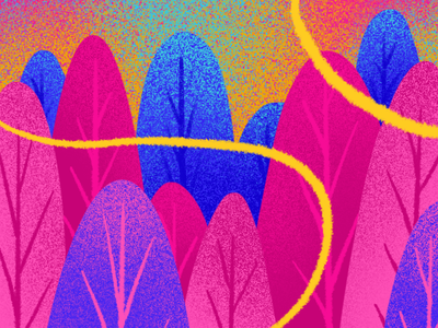 FOREST pattern colorful forest digitalpaiting digital procreateapp procreate pattern digitalart background screen doodle illustration