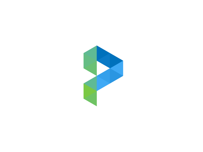 Logo Mark P  grid triangles p logo mark