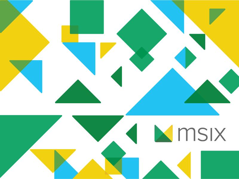 Tangram M Mark education brand mark logo overlay tangram rounded triangles geometric