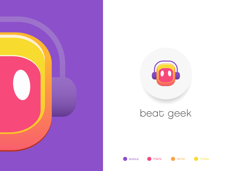 beat geek icon color palette colorful illustration typography gradient logo art ui logodesign gradients colorful logo vector logo identity branding gradient design illustration