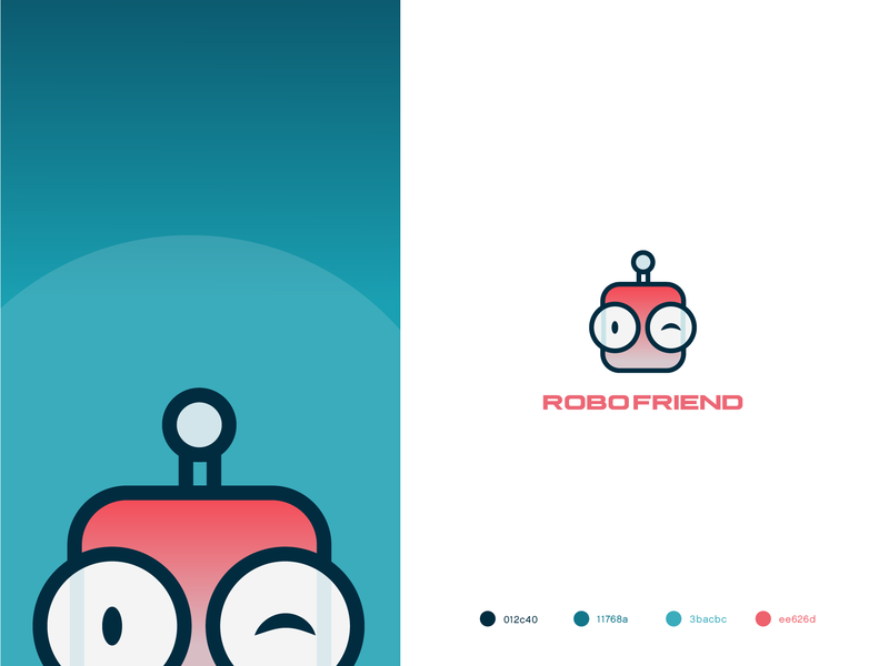 Robofriend colorful illustration robots robofriend robot colorful art art logodesign color palette typography design ui gradients colorful logo vector logo identity gradient logo gradient design branding illustration