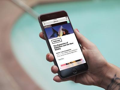 Adhoc.is publication wordpress mobile web design ux ui editorials contemporary art news adhoc