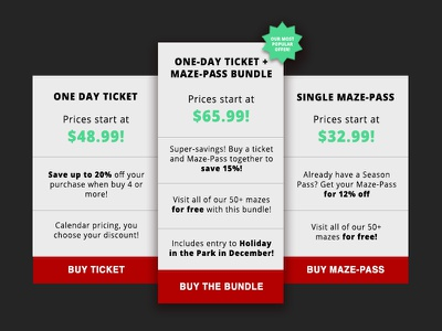 💸 Pricing Table Concept marketing web design concept pricing table