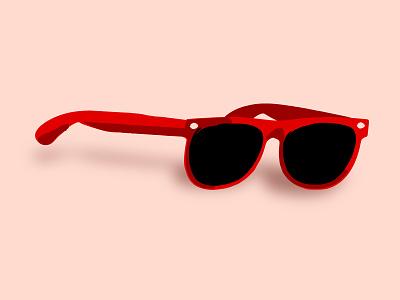 RIP Summer brushes shades wayfarer southwestern summer sunglasses illustration