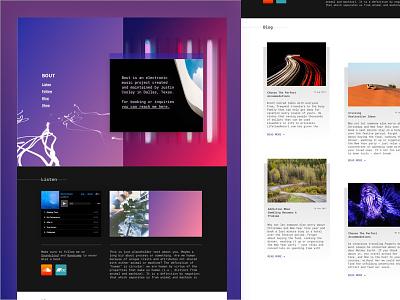 BOUT wireframe web design musician music wordpress website design web