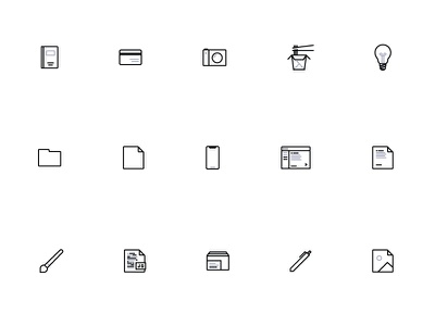 Two Toned Icons logos simple two-toned flat icons symbols