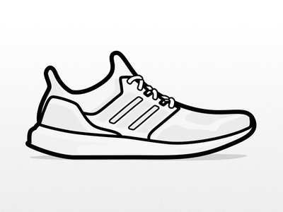 Adidas Ultra Boost vector icon sneakers sneaker ultraboost ultra boost adidas