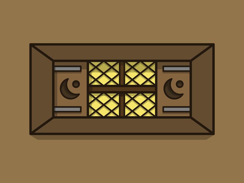 Goldshire tavern window azeroth world of warcraft outline window tavern goldshire wow warcraft vector illustration