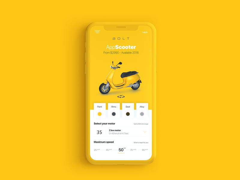 Bolt Ui app mobile creative grapicdesign ux ui