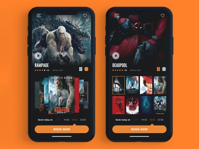Movies Ui Wide graphicdesign design apple iphonex booking cinema mobile app userinterface ui ux