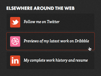 CSS3 social icons