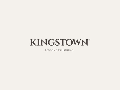 Kingstown vector logotype fashion bespoke logo typography design branding brand identity logo design