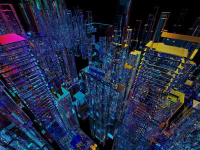 Skyline skyscrapers creativecloud adobe photoshop 3d maxon cinema4d c4d