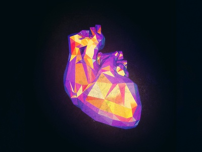 Caustic Heart creativecloud adobe photoshop 3d cinema4d c4d dailyrender everydays pixel lowpoly heartbeat heart
