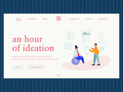 Hour of Ideation landingpage graphicdesign userinterface creativecloud design photoshop adobe webdesign ui
