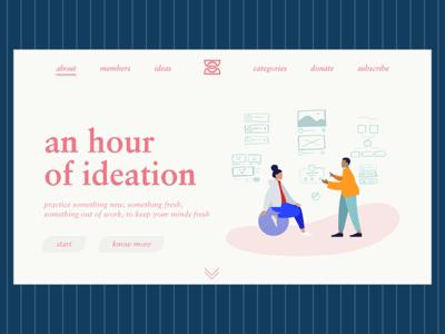Hour of Ideation landingpage graphicdesign userinterface creativecloud design photoshop adobe webdesign ui