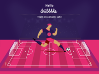 Dribbble invite Welcome shot