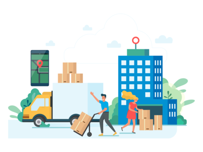 Online city logistics