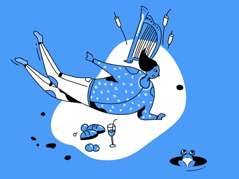 The picnic 插图 设计 ui illistration